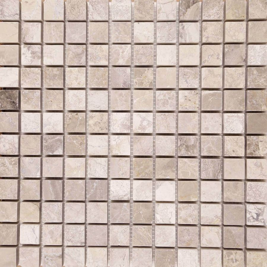 mozaika kamienna marmurowa naturalna Silver Shadow 30,5x30,5 szara