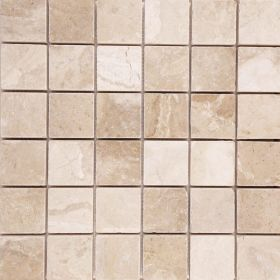 mozaika kamienna beżowa marmurowa naturalna Diana Royal  30,5 x 30,5 x 1 cm kostka 4,8x4,8 x 1 cm