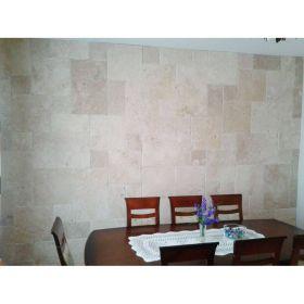 płytki trawertyn classic układ rzymski łazienka ściana kamień naturalny