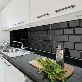 płytka ceramiczna glazura ścienna łazienkowa do kuchni metro black 10x20