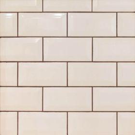 płytka ceramiczna glazura ścienna łazienkowa do kuchni metro beige 10x20 cm szkliwiona