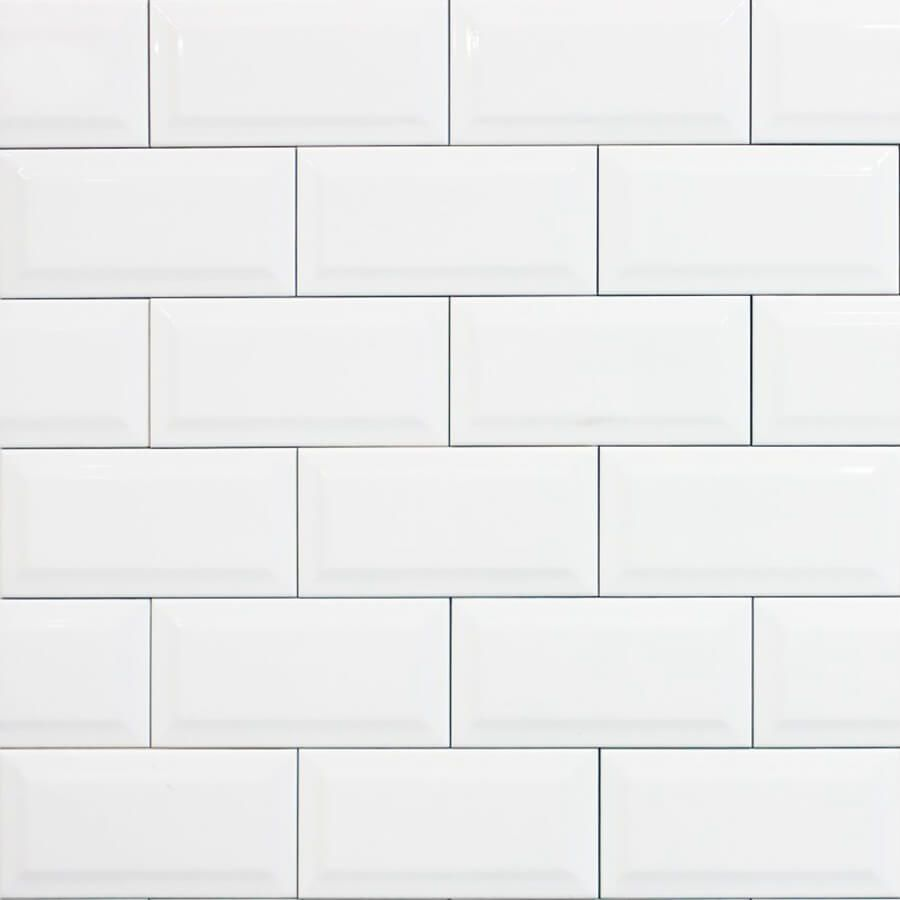 płytka ceramiczna glazura ścienna łazienkowa do kuchni metro white 10x20 cm szkliwiona