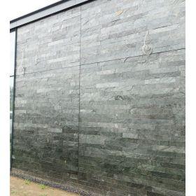 Kamień Elewacyjny Dekoracyjny Ścienny Ozdobny Naturalny Łupek Silver Grey