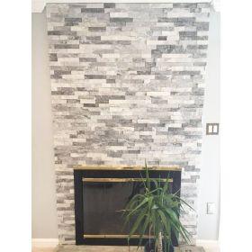 panel ścienny kamień dekoracyjny bianco grey naturalny biało szary cloudy grey