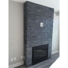 kamień dekoracyjny czarny łupek panel stackstone