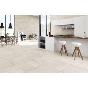 płytki ceramiczne gres materika white ceramika podłoga ściana