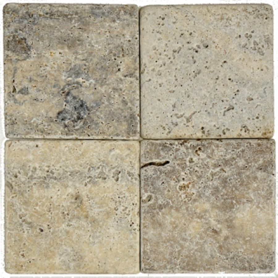 płytki trawertynowe kamienne silver 15x15