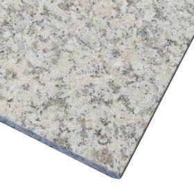 Płytki granitowe kamienne granit naturalne Bianco Sardo 60x60x3 cm płomieniowane taras schody