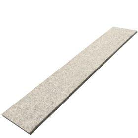 Stopnie schody granitowe kamienne naturalne zewnętrzne płomieniowane Bianco Sardo 150x33x3 cm