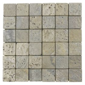 mozaika z kamienia naturalnego łupek Metallic Green