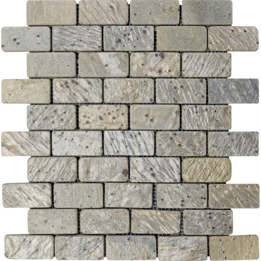mozaika kamienne łupek Metallic Green Brick
