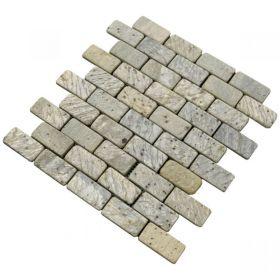 Metallic Green Brick mozaika z kamienia ściana podłoga
