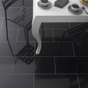 czarne płytki granitowe kamienne polerowane 60x60