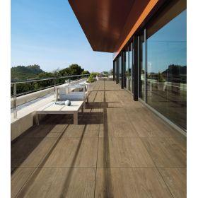 płytki ceramiczne gres taras axi brown 120x40 balkon