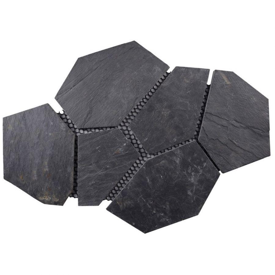 łupek black naturalny kamień