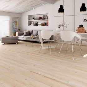 płytka podłogowa ceramiczna gresowa drewnopodobna łazienkowa kuchenna Atelier Beige 23,3 x 120 x 1 cm