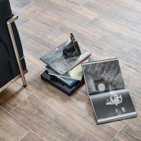 płytka podłogowa ceramiczna gresowa drewnopodobna łazienka kuchnia Gate Brown 22 x 90 x 1 cm
