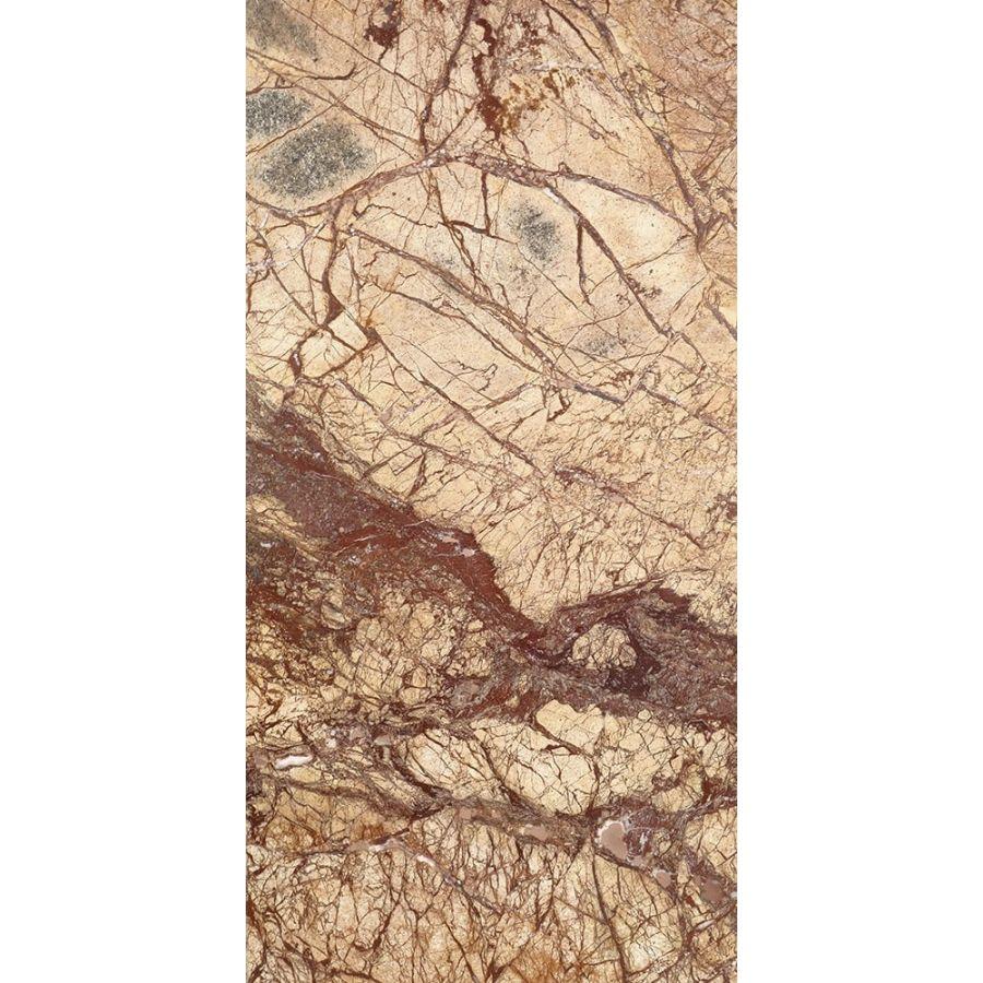 Płytki marmurowe kamienne naturalne podłogowe Rain Forest Brown szczotkowany 61x30,5x1,2 cm