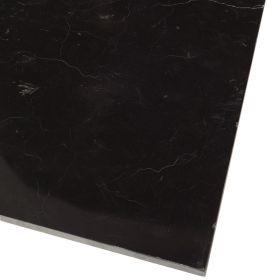 Płytki marmurowe kamienne naturalne podłogowe Nero Marquina polerowany 30,5x30,5x1 cm