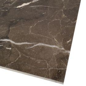 Płytki marmurowe kamienne naturalne podłogowe Emperador Dark polerowane 60x60x1,8 cm