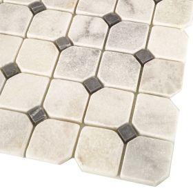 mozaika kamienna marmurowa naturalna Carrara 30,5x30,5 cm bębnowany