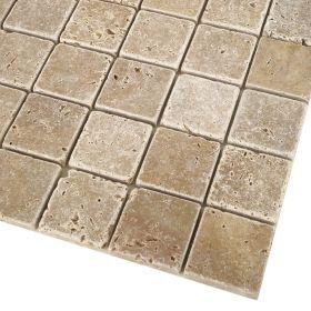 mozaika kamienna trawertynowa naturalna  Noce / 30,5 x 30,5 x 1 cm / kostka 4,8 x 4,8 x 1 cm