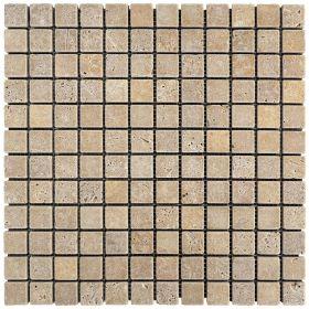 mozaika kamienna trawertynowa naturalna  Noce / 30,5 x 30,5 x 1 cm / kostka 2,3 x 2,3 x 1 cm
