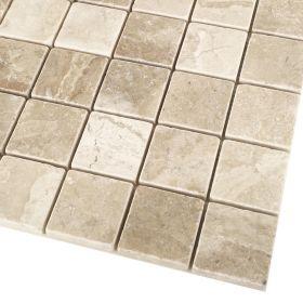 mozaika kamienna marmurowa naturalna Diana Royal 30,5 x 30,5 x 1 cm kostka 4,8 x 4,8 x 1 cm