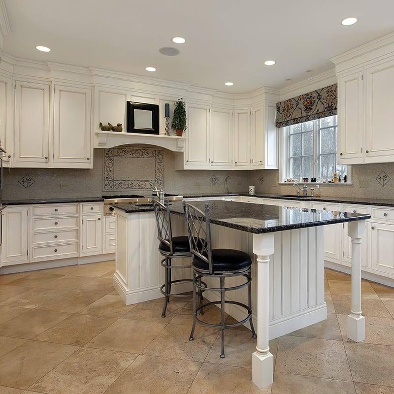 Płytka trawertynowa na podłogę do kuchni