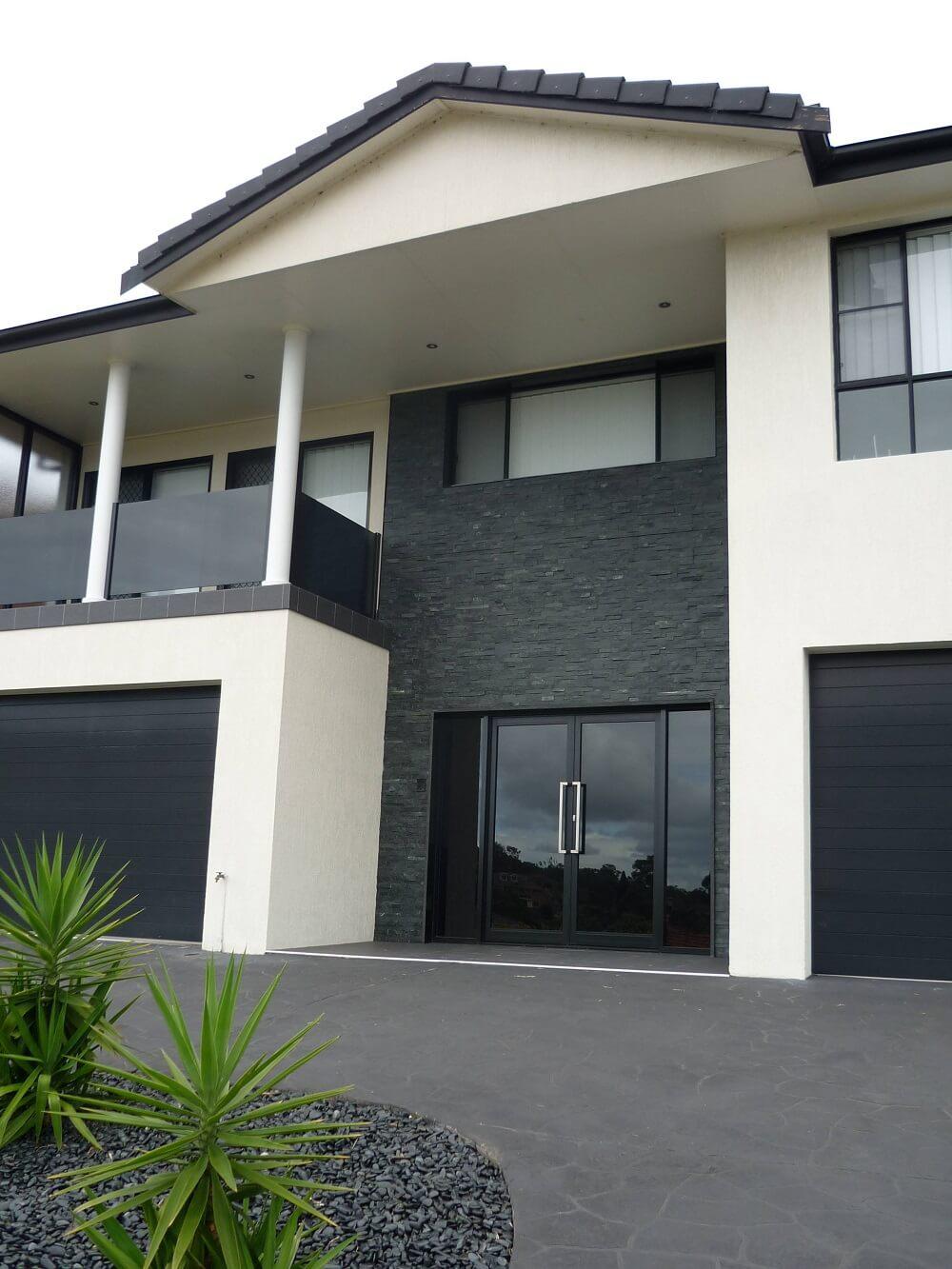 kamień elewacyjny naturalny łupek panel dekoracyjny black